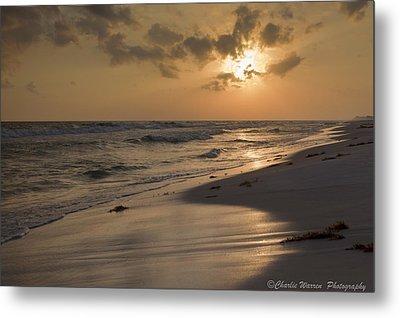Grayton Beach Sunset Metal Print by Charles Warren
