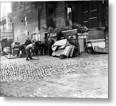 Great Depression, Riverfront Shantytown Metal Print by Everett