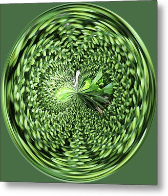 Green Orb Metal Print