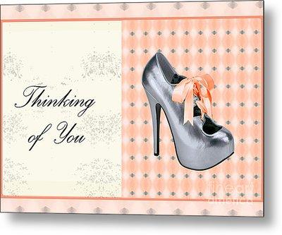 Grey Shoe Thinking Of You Metal Print by Maralaina Holliday