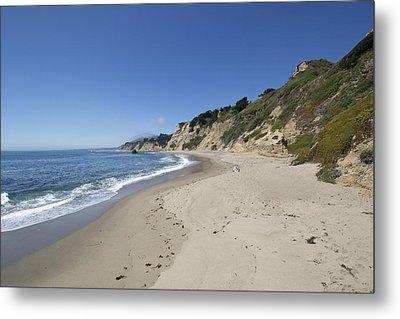 Greyhound Rock State Beach Panorama - Santa Cruz - California Metal Print by Brendan Reals