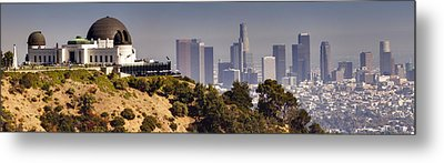 Griffith And Los Angeles Metal Print by Ricky Barnard