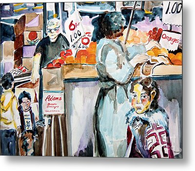 Grocery Shopping Metal Print by Mindy Newman