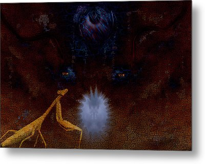 Guardian Of The Pearl Metal Print by Steven Richardson