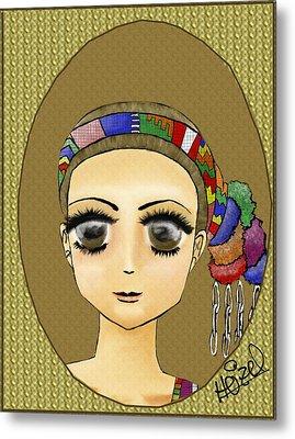 Guatemalan Costume Santo Tomas La Union Metal Print by Heizel Gonzalez