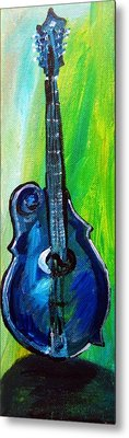 Metal Print featuring the painting Guitar 1 by Amanda Dinan
