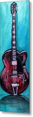 Metal Print featuring the painting Guitar 2 by Amanda Dinan