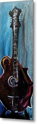 Metal Print featuring the painting Guitar 3 by Amanda Dinan
