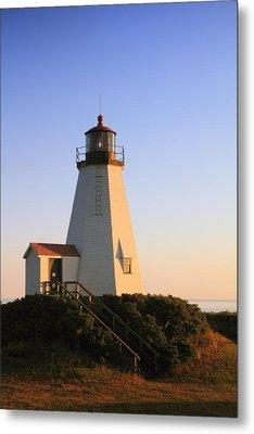 Gurnet Point Lighthouse Metal Print by Roupen  Baker