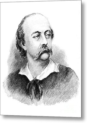 Gustave Flaubert, French Author Metal Print by Photo Researchers