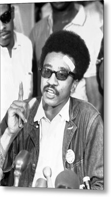 H. Rap Brown, Chairman Of The Student Metal Print by Everett