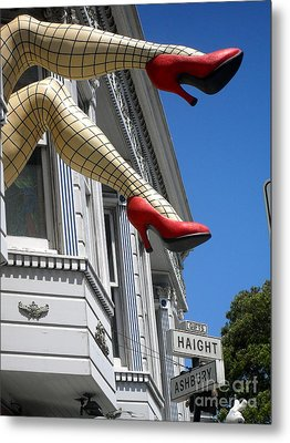 Metal Print featuring the photograph Haight And Ashbury by Beth Saffer
