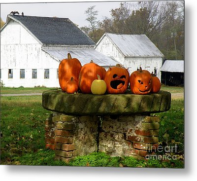 Metal Print featuring the photograph Halloween Scene by Lainie Wrightson