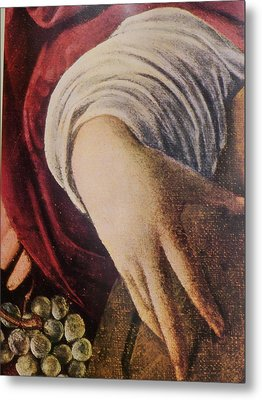 Hand Of The Lute Player From The Musicians Caravaggio Metal Print by Jake Hartz
