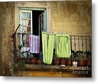 Hanged Clothes Metal Print