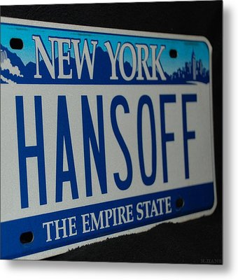 Hans Off Metal Print by Rob Hans