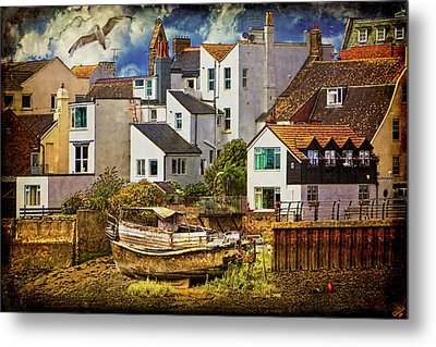 Harbor Houses Metal Print by Chris Lord