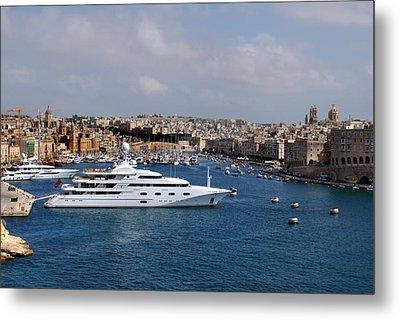 Harbour Valletta. Metal Print by Terence Davis