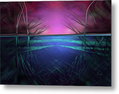 Metal Print featuring the digital art Hard Shoes by Steve Sperry