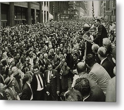 Harry Belafonte B. 1927 Speaking At An Metal Print by Everett