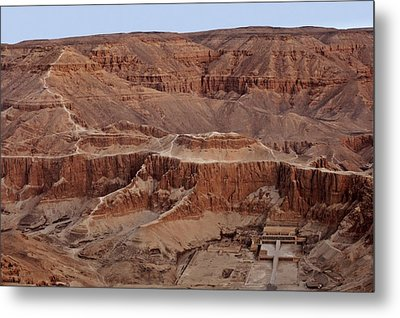 Hatshepsuts Mortuary Temple Metal Print by Kenneth Garrett