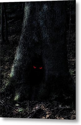 Haunted Tree Metal Print by Walt Stoneburner
