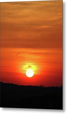 Heavenly Sunset Metal Print by Mariola Bitner