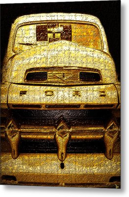 Henrys Ford Truck Metal Print by David Lee Thompson