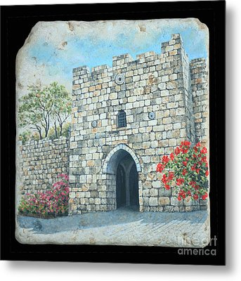 Herod's Gate Metal Print by Miki Karni