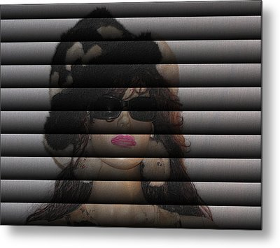Hidden Behind The Blinds Metal Print by HollyWood Creation By linda zanini