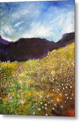 High Field Of Flowers Metal Print by Gary Smith