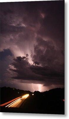 Highway Weather Metal Print by David Paul Murray