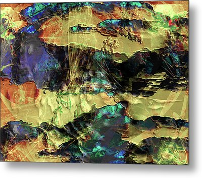 Hills Of Gold Metal Print by Monroe Snook