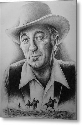 Hollywood Greats -robert Mitchum Metal Print by Andrew Read
