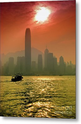 Hong Kong Sunset Metal Print by Bibhash Chaudhuri