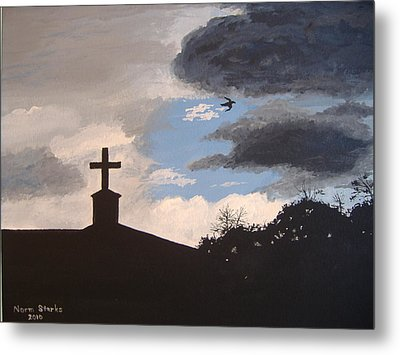 Metal Print featuring the painting Hope In The Storm by Norm Starks
