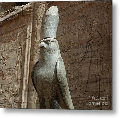 Horus The Falcon At Edfu Metal Print