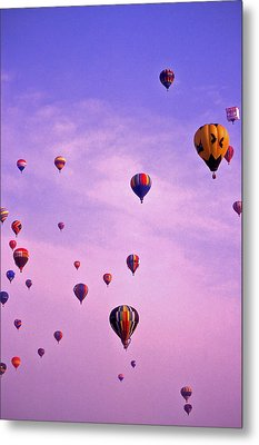 Hot Air Balloon Race - 1 Metal Print