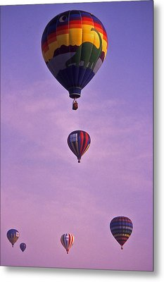 Hot Air Balloon Race - 3 Metal Print