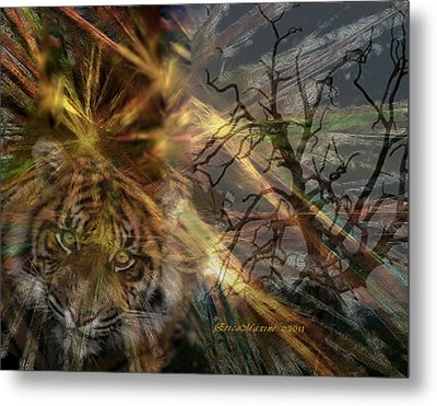 Metal Print featuring the photograph Hunter by EricaMaxine  Price