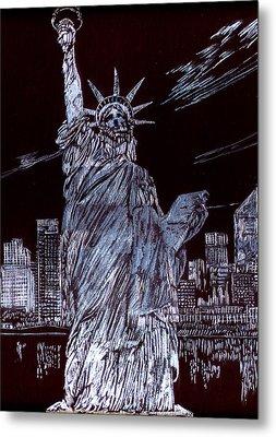 I Love Nyc Metal Print by Saad Hasnain