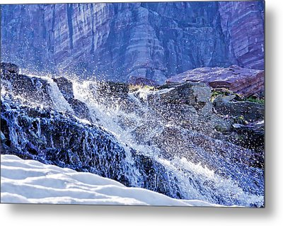 Metal Print featuring the photograph Icy Cascade by Albert Seger