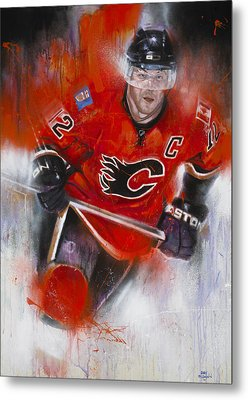 Iginla Metal Print by Gary McLaughlin