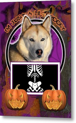 I'm Just A Lil' Spooky Siberian Husky Metal Print by Renae Laughner
