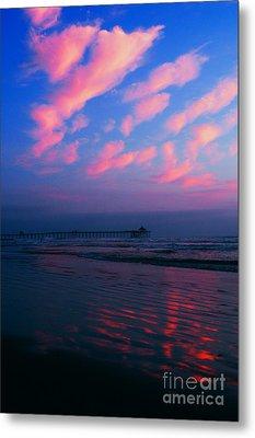 Imperial Beach At Dusk Metal Print by Sabino Cruz