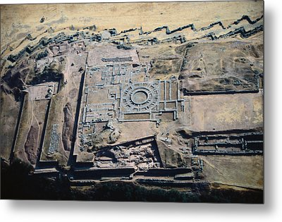 Imposing Incan Fortress Of Sacsayhuaman Metal Print by Bobby Haas