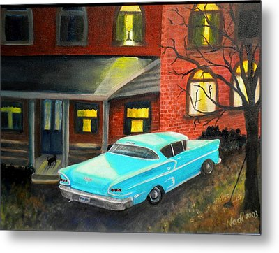 In For The Night Metal Print by Renate Nadi Wesley
