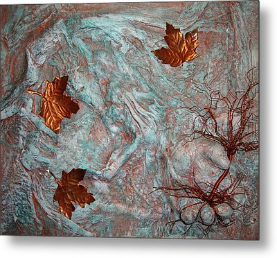 In His Hands Metal Print by Cristy Crites
