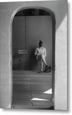 In The Doorway Metal Print by Robert Ullmann