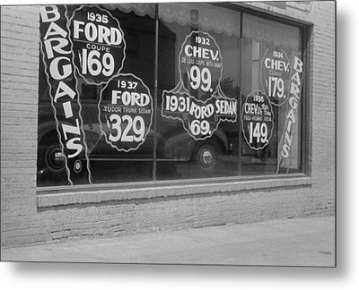 In Washington, D.c. A Used Automobile Metal Print by Everett